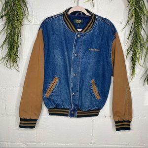 Vintage Dunbrooke SPEED QUEEN Denim Bomber Coat M